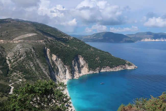 Myrtos beach, Kefalonia - Greece GREECE ♥♥ Greek Greek Islands Kefalonia Island Summertime Travel Bay Beach Cloud - Sky Greece Greece Islands Idyllic Kefalonia Mountain Mountain Range Nature Non-urban Scene Scenics - Nature Sea Sky Tranquil Scene Tranquility Turquoise Colored Vacation Water