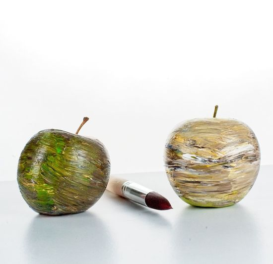 Painted apples,