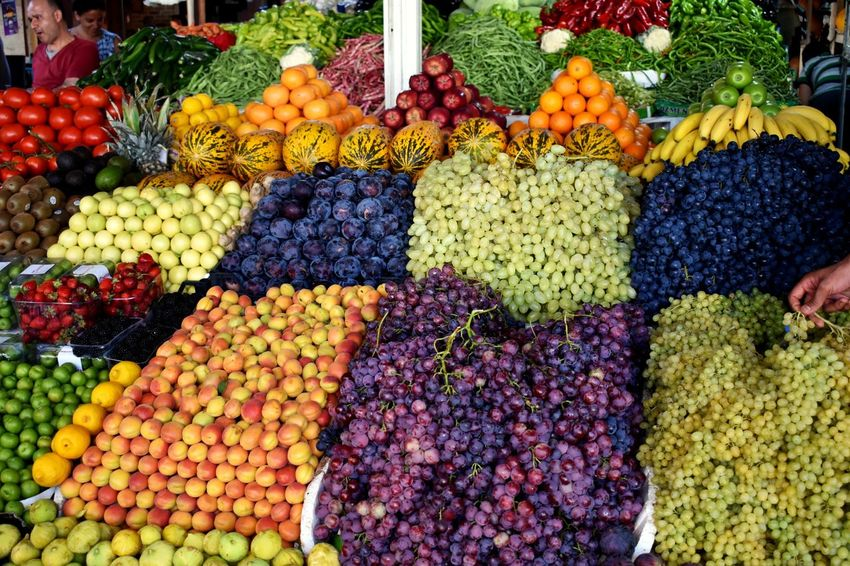 fruit market in bodrum Fruit Fruits Peach Plumb Watermelon Mellon Grapes Green Grapes Purple Grapes Fruit Market Market Colourful Food Colourful Fruit Contrast Orange Multi Colored Market Choice Retail  Fruit Variation For Sale Market Stall Farmer Market Street Market Stall Farmer's Market Plum Display