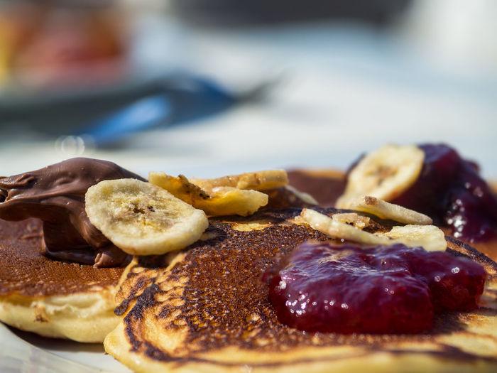 Close-up of pancake