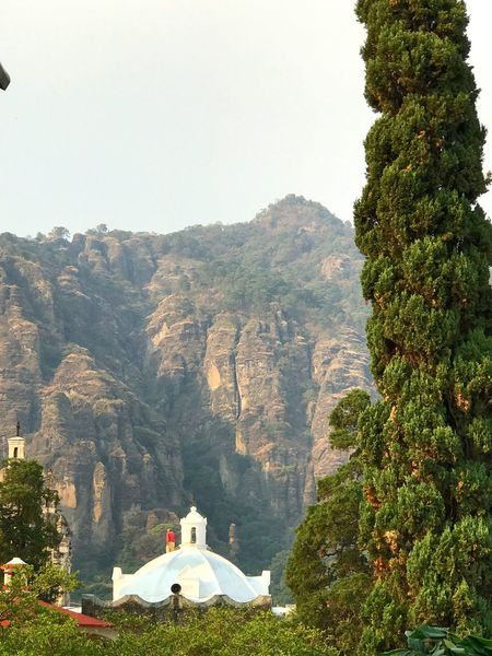 Mountain Nature Tree Sky Outdoors On The Roof Scenics Beauty In Nature Architecture Day Paceful Tranquility Life Is Perfect Beauty In Nature On The Road Road Happiness Gratitude Landscape Clear Sky Hello World Church Tree Mountains Tepozteco
