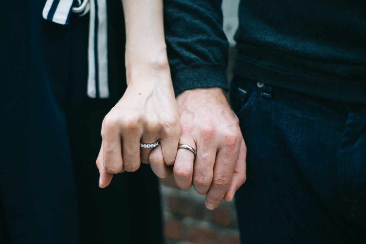 Cropped Hand Showing Wedding Rings