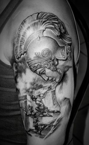 Tattoo Black And Gray Achilles Skinart