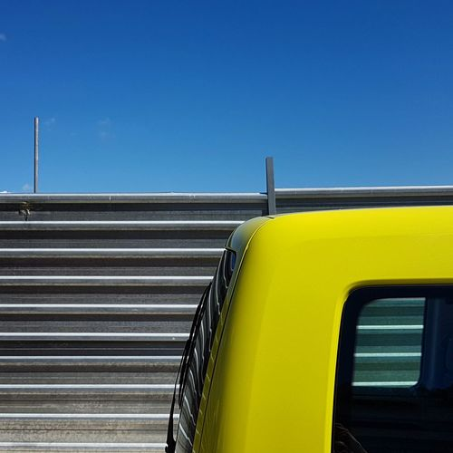 Yellow Clear Sky Blue Geometric Abstraction Minimalist Minimalism Mobile Editing Geometry Lines Mobilephoto Mobile Xativa City Mobilephotography Architecture Square Textured  Color Modern Multi Colored