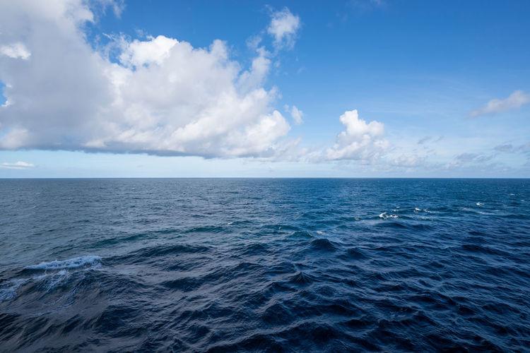 Clouds On Horizon Blue Cloud - Sky Clouds Horizon Horizon Over Water Nature Ocean Sea Seascape Sky Water White