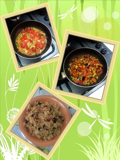 Today's Lunch Cous Cous and Vegetables Yummy