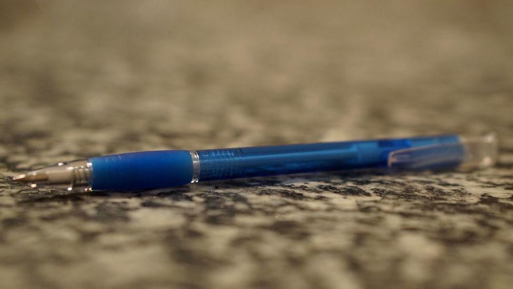 Ballpoint Pen Ballpoint Pen Pencil Focused Focus Blur No People Blue