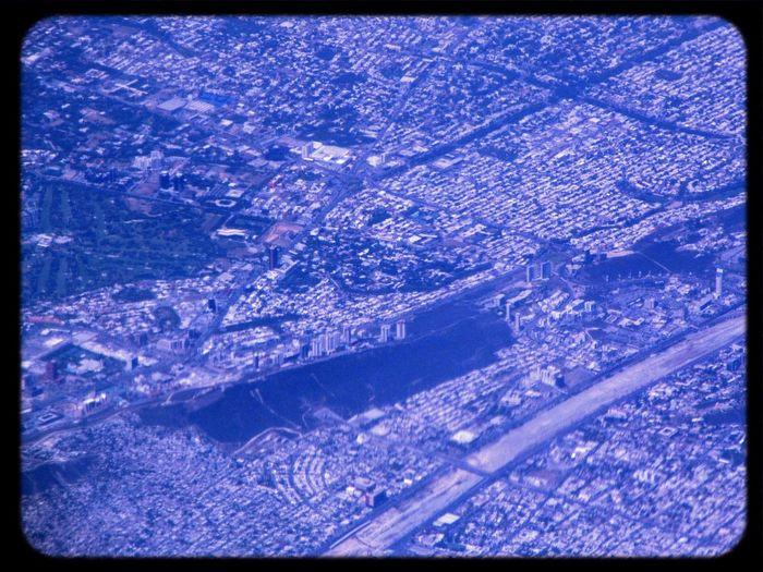 From An Airplane Window Monterrey Rio Santa Catarina Valle Oriente