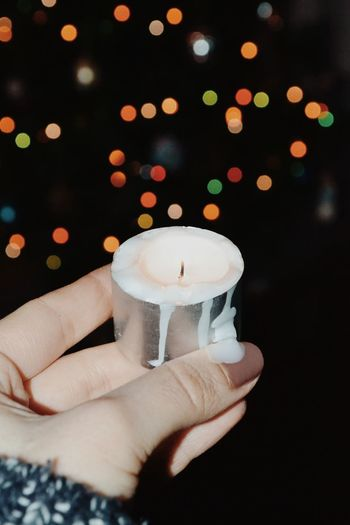 Human Hand Christmas Decoration Christmas Christmas Lights Celebration Black Background christmas tree Illuminated Candy Cane