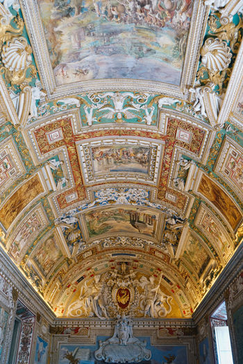 Rome Vatican Architectural Column Architecture Architecture And Art Art And Craft Belief Built Structure Ceiling Creativity Day Fresco Human Representation Indoors  Italy Low Angle View Mural No People Ornate Place Of Worship Religion Spirituality Travel Destinations