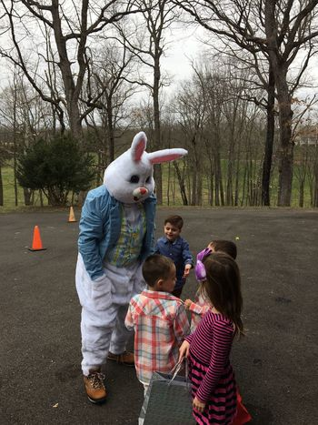 The Kids having a blast with the Easter Bunny. And yes, that's me playing the Easter Bunny😊 Happyeaster ItsAllAboutTheKids LaFamilia Enjoying Life LaDolceVita
