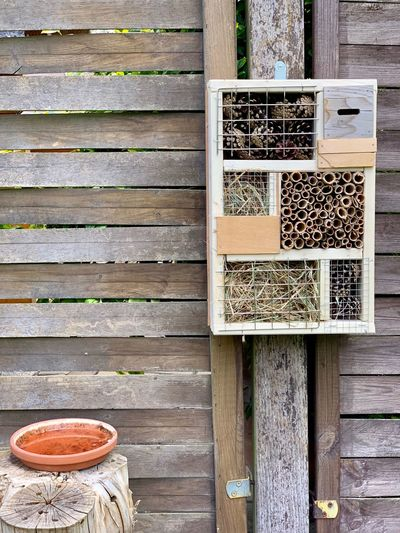 Insect Hotel Insect Home Insects  Insect House Insect Home Wood - Material No People Day Communication Wall - Building Feature Outdoors Built Structure Pattern Architecture Building Exterior Food And Drink Food Sign Table Old Close-up Directly Above Text Still Life Box