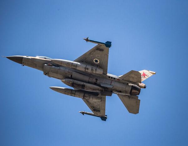 Air Force Air Vehicle Airplane Aviation Blue Blue Sky Clear Sky F-16 Fighting Falcon Flight Flying General Dynamics IAF Israeli Air Force Military Transportation