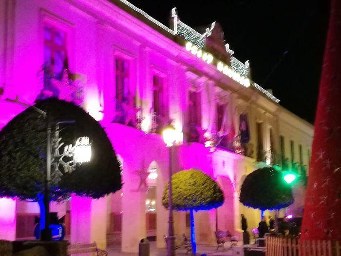 multicolor City Illuminated Neon Architecture Building Exterior Built Structure