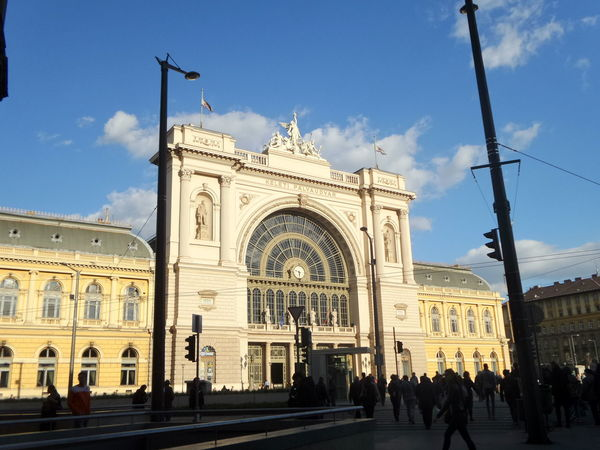 Architecture Budapest Building Exterior City City Life Cloud Cloud - Sky History Keleti Railway Station Street Light Travel Travel Destinations