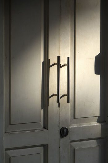 Main Entrance Close-up Day Door Full Frame Light And Shadow Of Door Handles No People Outdoors