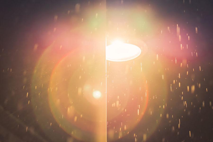 Close-up Evening Illuminated Indoors  Lens Flare Lens Flare Magic Lens Flares Night Night Lights No People Rain Sky Street Light