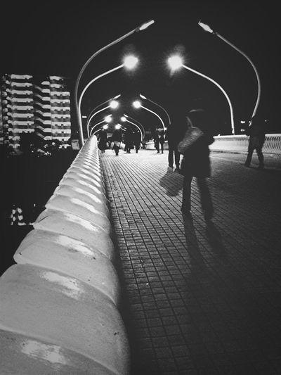 Blackandwhite Going Home Black And White Bridge