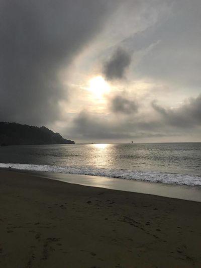 Ocean Beach Sun Nature Water Sea Sand Cloud - Sky Sunset Scenics Beauty In Nature Sky Outdoors Beach San Francisco Clouds Phoneography Eyeemphotography California PhonePhotography Familiar Sights Light Shadow