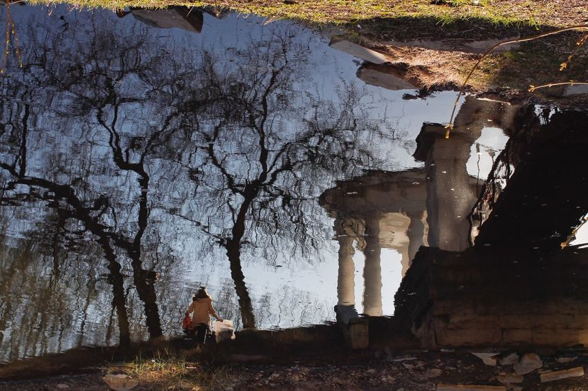 One Person Tree Water Sky Nature People Outdoors Reflection Reflections And Shadows Secret Places