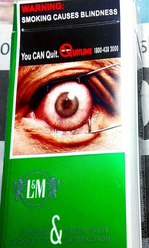 CigarettePacks Smoking Causes Blindness SmokingCausesBlindness Western Script Text Check This Out Taking Photos Eyes Wide Shut Eyes Wide Open L & M Eyes Smoking Kills Eyeball Eyeballs  Cancer Sticks Coffin Nails Cigarette Packets Cigarette Pack I'm Watching You Cigarette Packet L And M Cigarettes Kill Blindness Carcinogenic Hazardouswarning Eye Cancer Awareness Eyes Watching You Eyeballed I'm Gonna Gouge Your Eyes Out