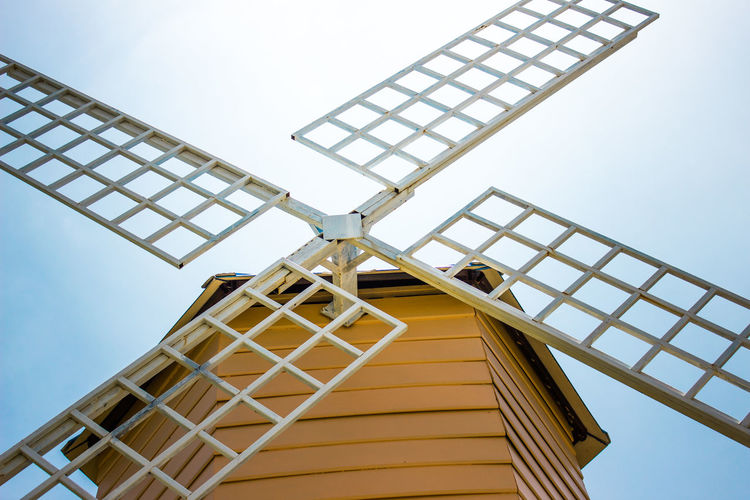 Alternative Energy Building Exterior Built Structure Low Angle View Outdoors Sky Wind Power Wind Turbine Windmill
