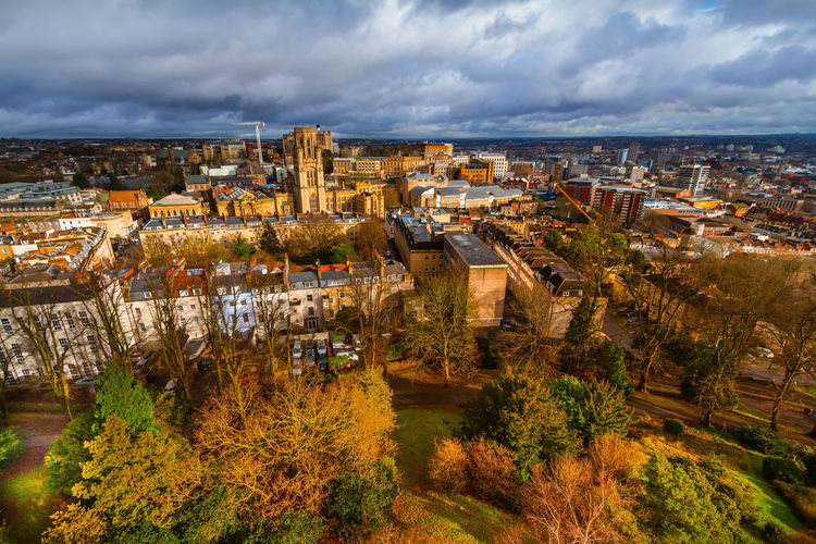 University of Bristol, Bristol, United Kingdom Autumn Bristol United Kingdom View Architecture Building Building Exterior Built Structure City Cityscape Cloud - Sky Day Fall High Angle View Nature No People Outdoors Plant Residential District River Sky Transportation Tree University Of Bristol