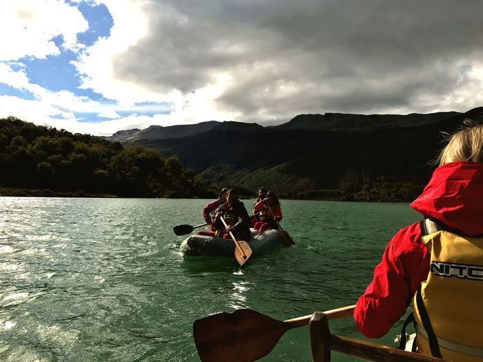 Mountain Beagle Channel Canoe Paddling Canoe Tierradelfuego Glaciar Water