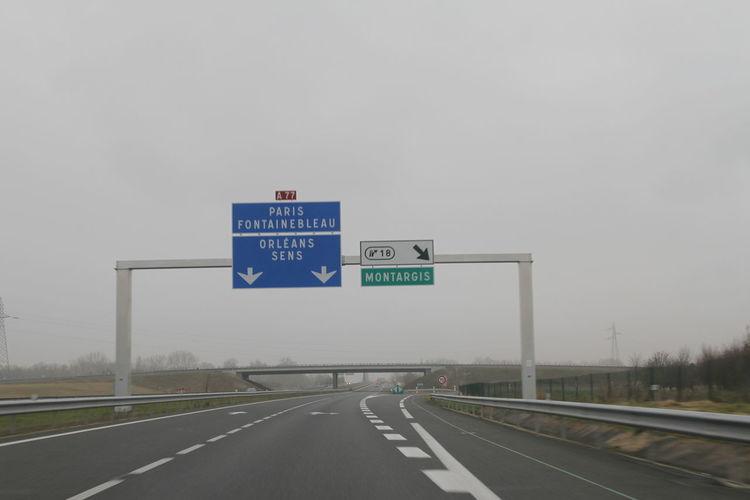 Sur La Route Roadtrip France Landscape_Collection Autoroute  Autoroutes Sur La Route... Highway Road Trip Road Sign Panneau Motorway Traveling Autoroute A77