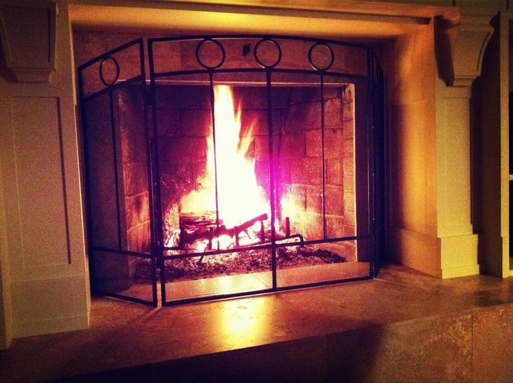Enjoying a nice fire with my sweetie on New Year's Day