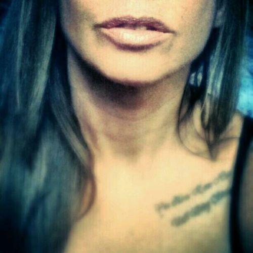 Selfie Color Portrait Lips Tattoos
