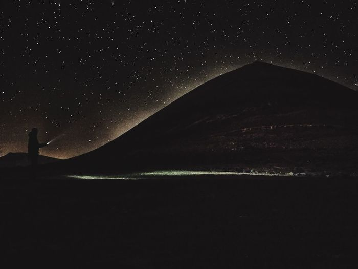 Night volcan