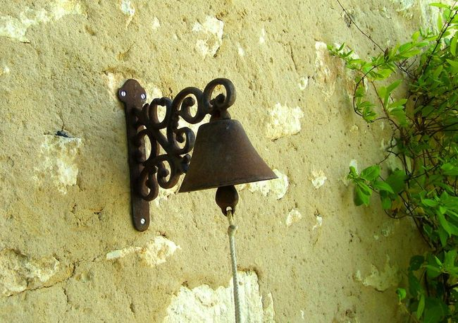 Antique Bell Bell Pull Clapper Close-up Day Decorative Bell Door Bell House Bells No People Old Fashioned One Person Outdoors Small Bell Vintage Wrought Iron