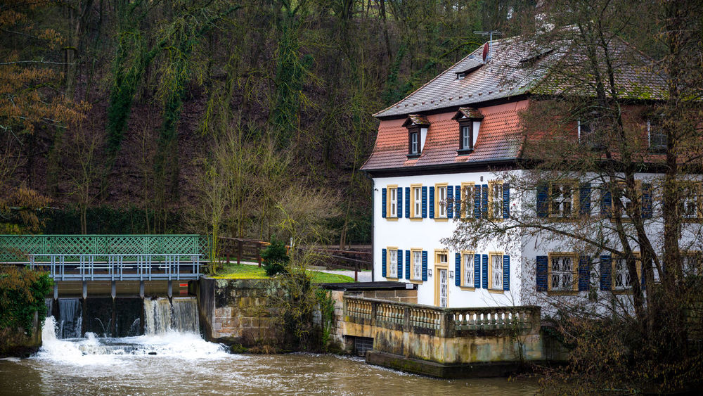 House on the river Regnitz in Bamberg Bamberg  Bavaria Bayern Hain Home House Nature Park People Private House Regnitz River River House Wald Water Woods