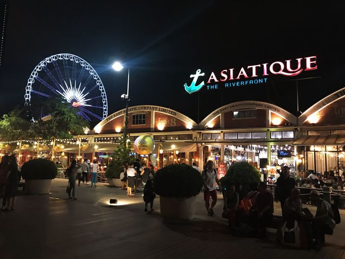 Asiatique The Riverfront Thailand Night View Night Lights Night Photography Chilling Outside Chilling With Friends Bangkok Thailand