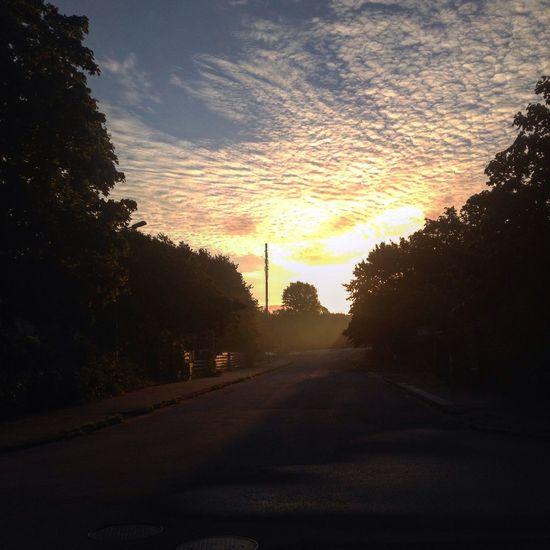 Sunrise, Oscarshem, Lund, Sweden, September 2015 Taking Photos Hello World