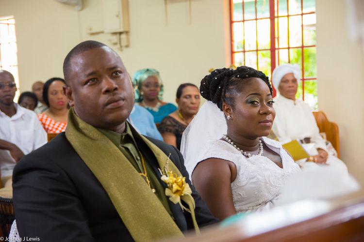 Wedding Photography Wedding Day Church Ceremony Stillife Celebration Beautiful People Trinidad And Tobago Spirituality Bride Holycross Religion Groom Two People