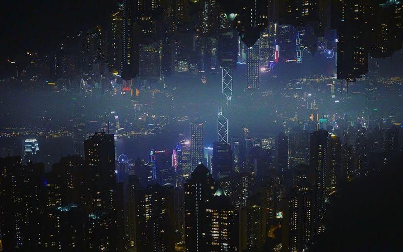 Hong Kong skyline. Sky Night Illuminated First Eyeem Photo