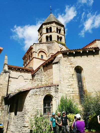 Check This Out That's Me Hanging Out Relaxing Enjoying Life Taking Photos of Chauriat Church in the Auvergne Region