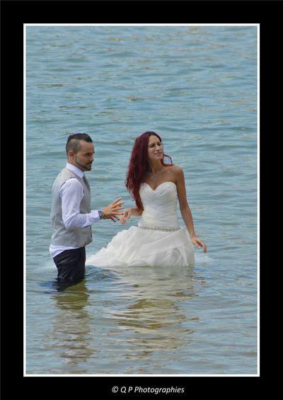 Mariage Wedding Catalunya SPAIN Beachphotography Espagne Costa Brava Platja D'Aro Beach In The Water