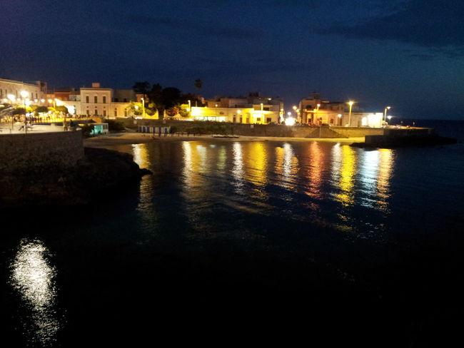 reflections.Santa Maria al Bagno ( Lecce ). Reflections Porto Night Lights Sea Life