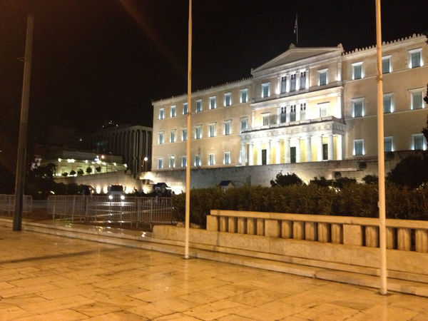Architecture Athens Building Exterior City Life Greece Greek Parliament Hellas Modern Night Lights Outdoors Street Photography Syntagma Square Urban Athens, Greece