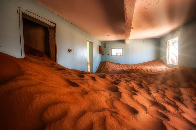 Interior of a desert