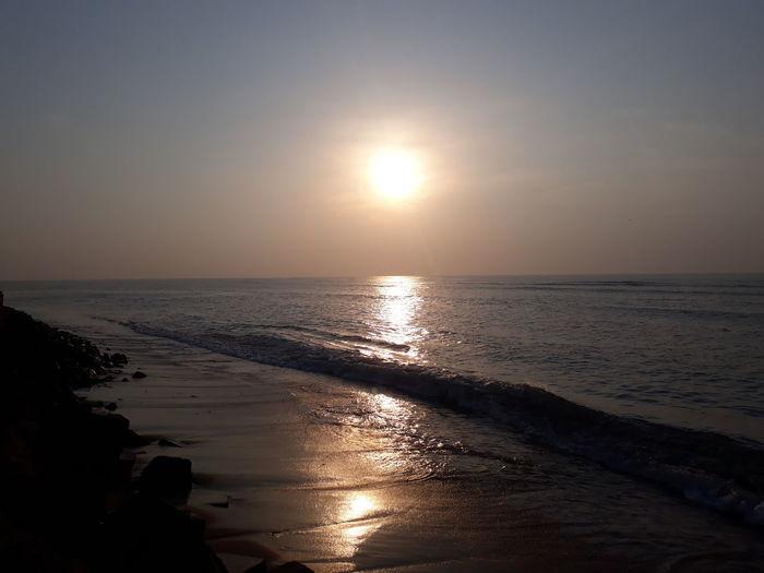 Sunrises Water Wave Sea Low Tide Sunset Beach Sand Dune Beauty Desert Backgrounds
