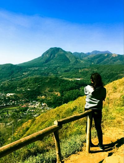 Hiking Mountain Clear Sky Nature Photography People Nature Full Length Tree Women Climbing Standing Rear View
