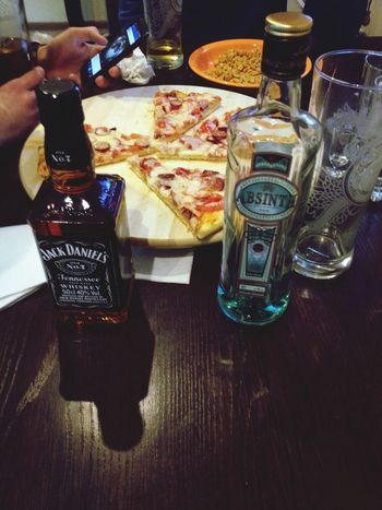 Pizza Drink Alcohol Love mentally)