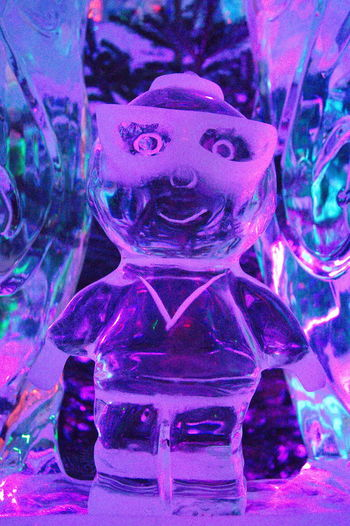 Artshow Brille Close-up Figure Ice ICEMAN  Icesculpture Indoors  Indoors  No People Toy