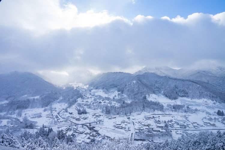 Mountain Winter Snow Landscape Cold Temperature Sky Scenics - Nature Cloud - Sky Environment Beauty In Nature Tranquil Scene Mountain Range Nature Tranquility No People Day Outdoors Non-urban Scene Architecture Snowcapped Mountain