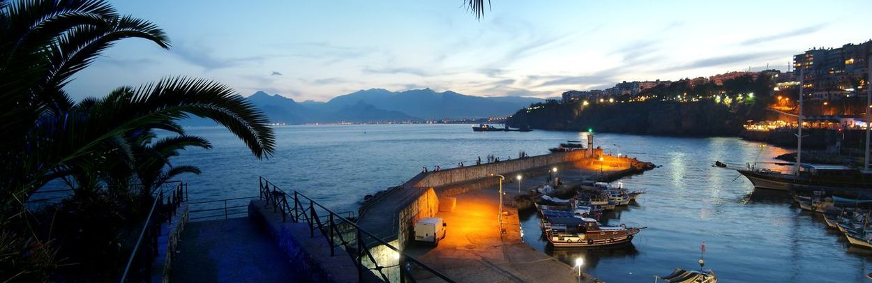 Antalya Old Harbour Panorama Nightphotography Sea And Sky Sea Travel Photography Holiday