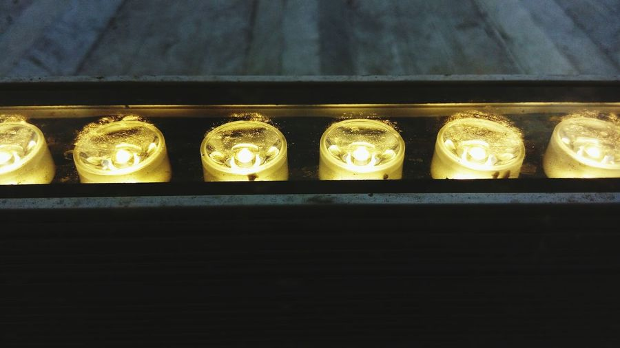 Close-up of electric lights